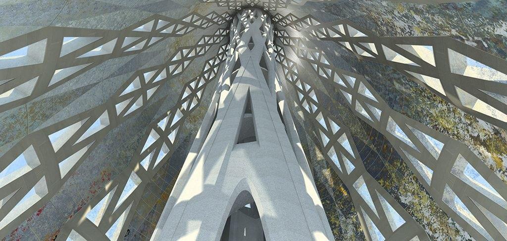 Recreación interior torre de Jesucristo